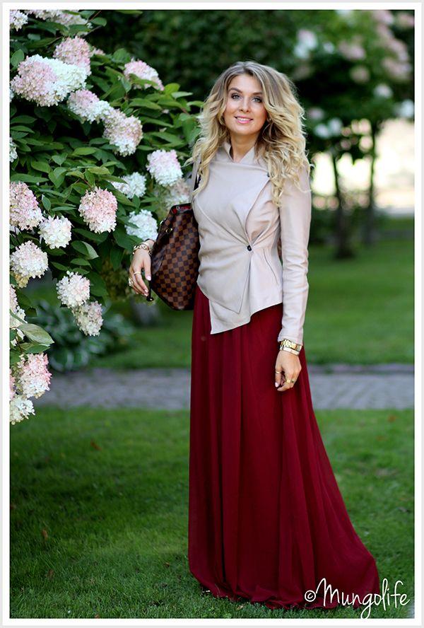 maxi dress for autumn