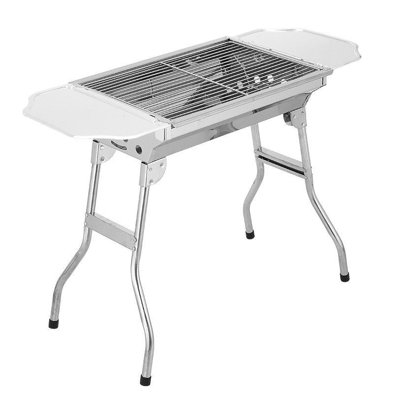 Stainless Steel Portable Folding Charcoal BBQ Grill For 3   4 Person  Outdoor Camping Barbecue Roasting