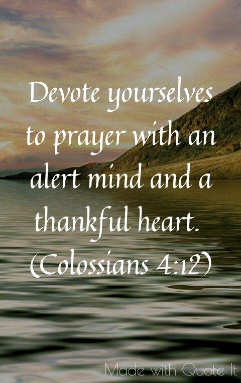 Thankfulness  (Colossians 4:12) | inspirational truths