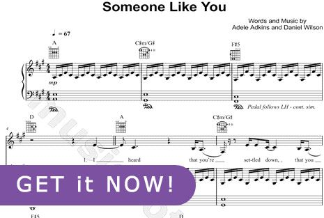 Someone Like You Chords Piano Google Search Music To My Ears