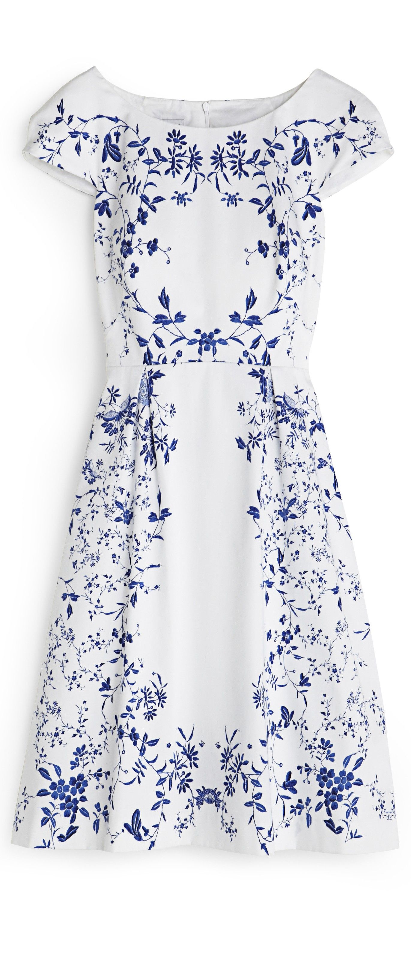 Blue and white floral wedding dress for older brides hobbs prshots
