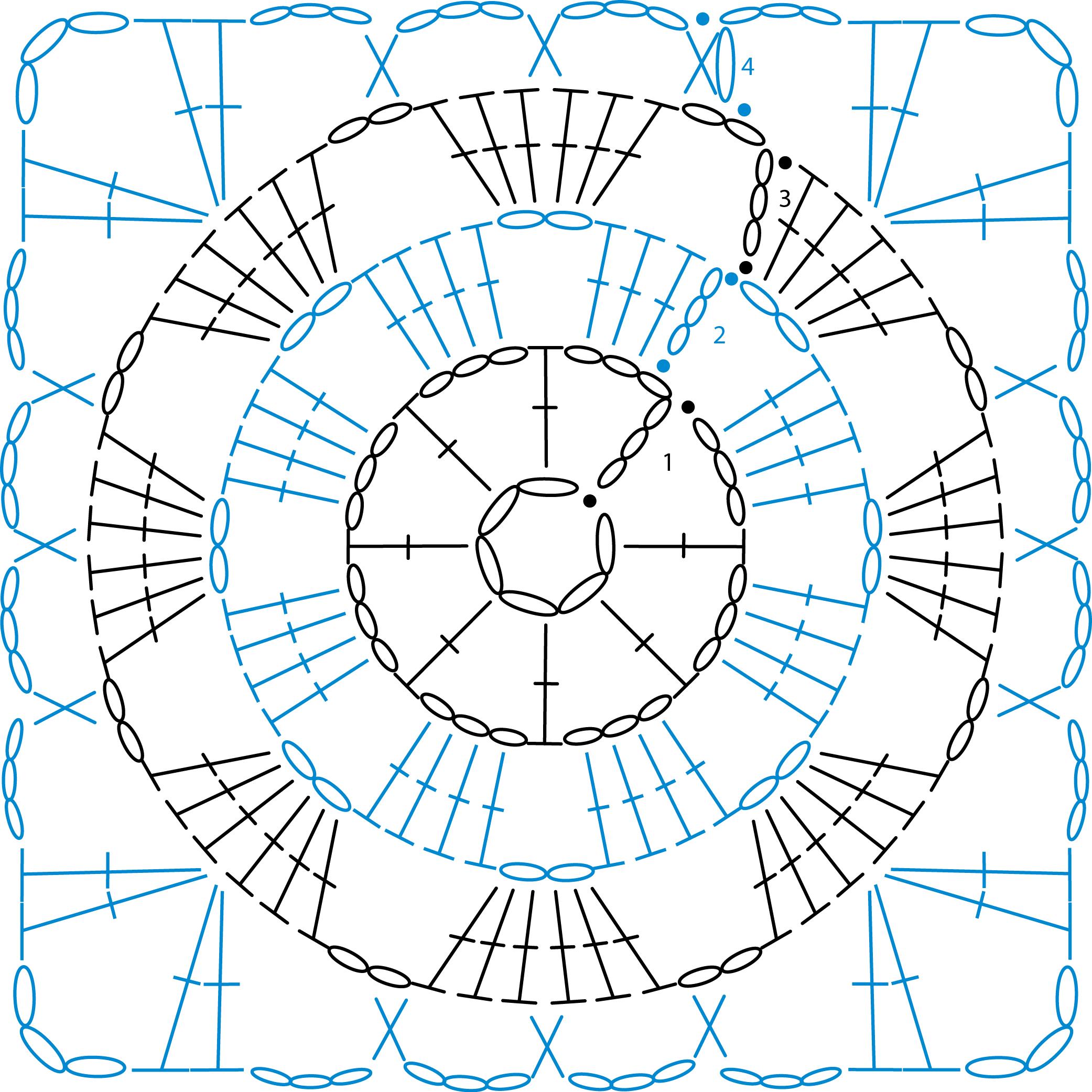 crochet granny square diagram honda goldwing 1200 wiring patterns simply knitting