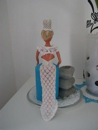 Häkelanleitung Barbies Brautkleid mit Umhang und Haarschmuck ...