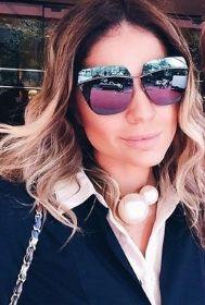 Dior Metallic é um luxo total! A blogueira Thassia Naves aprova!  oculos   de  sol  espelhado  colorido  sunglasses  oticas  wanny d81b539311