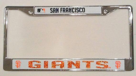 San Francisco Giants Crystal License Plate Frame San Francisco