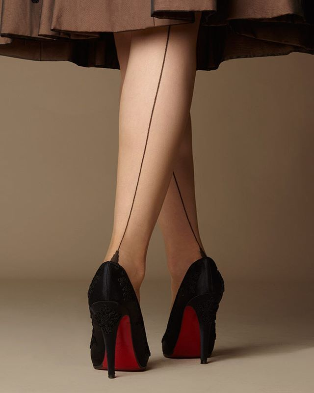 a86ae552190 My signature French-heeled fully fashioned seamed  stockings