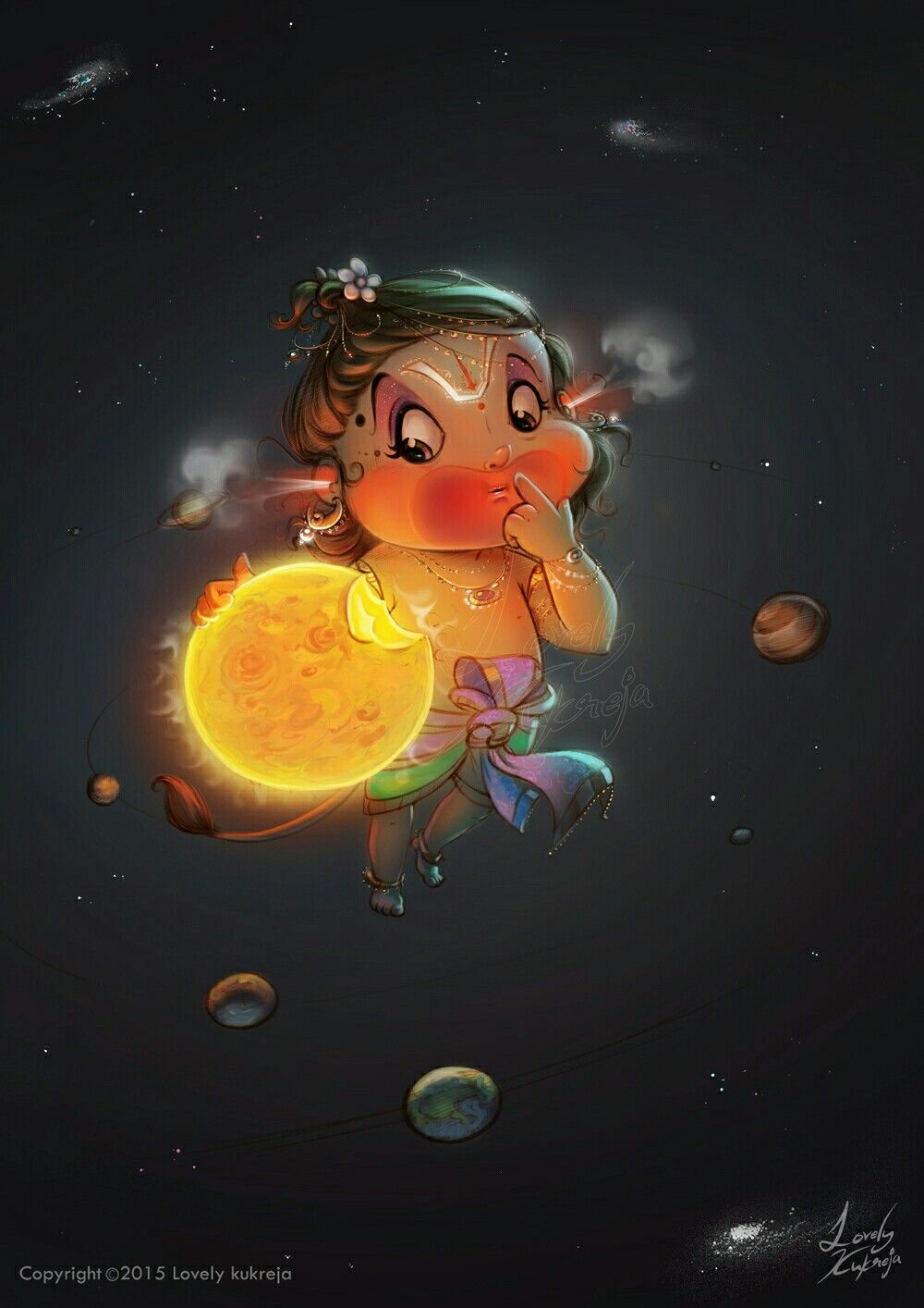 ॐ Aanjneya ॐ Artist Lovely Kukreja God Illustrations Lord Shiva Painting Hanuman Wallpaper