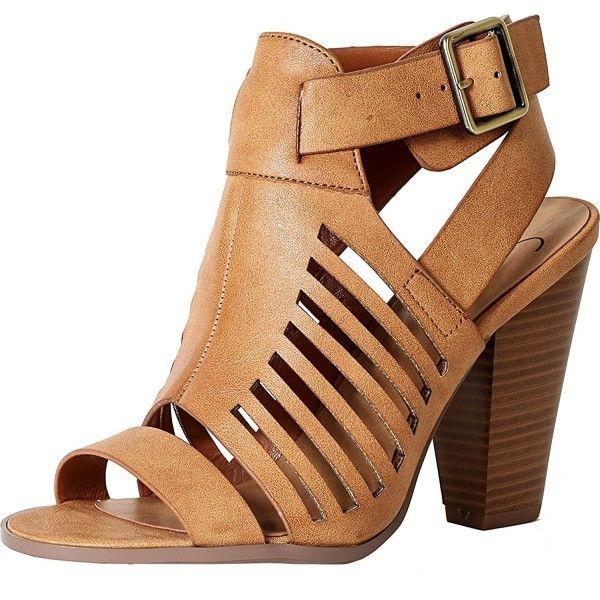 6a0b69ee928 Womens s Cutout Open Toe- block Heel Sandals - Tanpu - CJ182S700IX ...