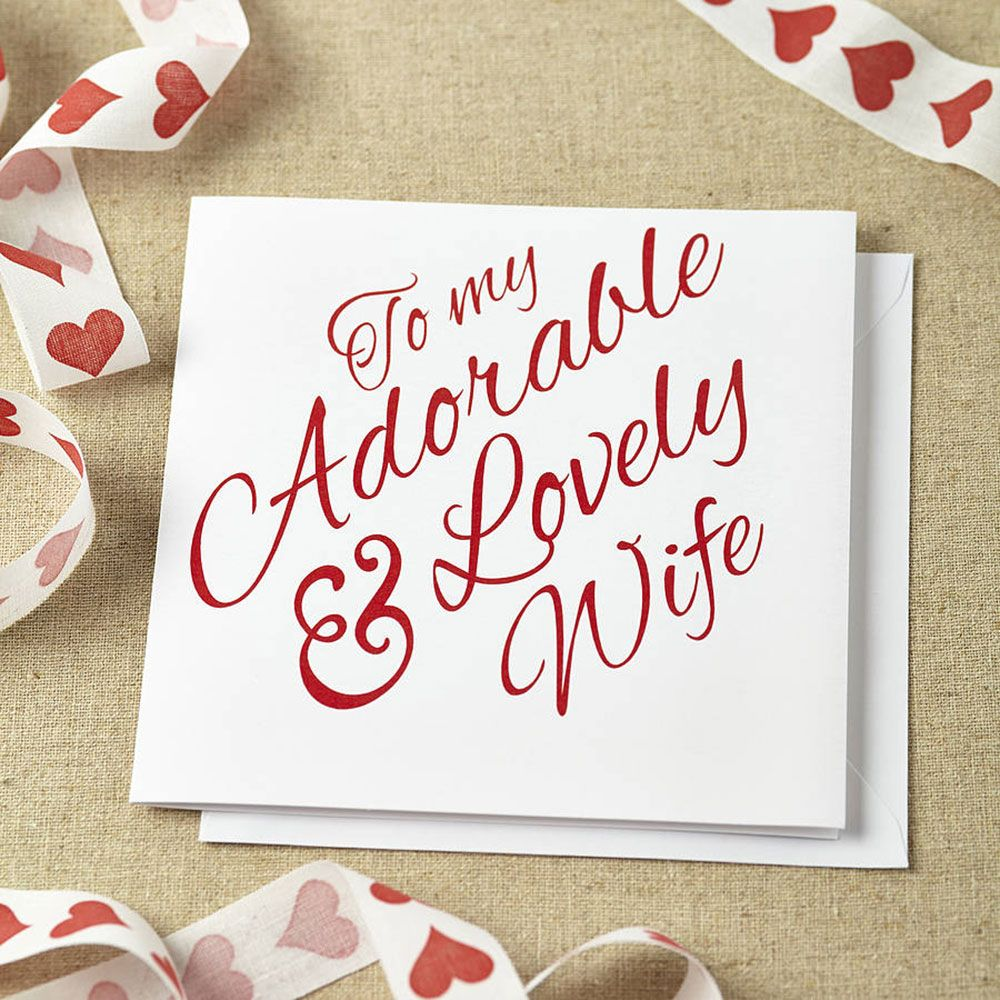 greeting card adorable wedding anniversary card template for wife