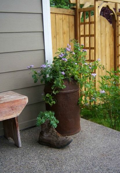 Cute Planting Ideas Old Milk Cans Plants Milk Can Decor