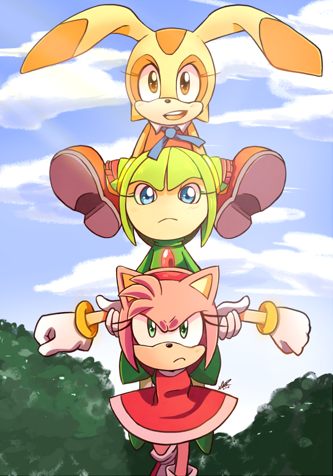 Girls powerrrr I redraw it from some Sonic X episode ...