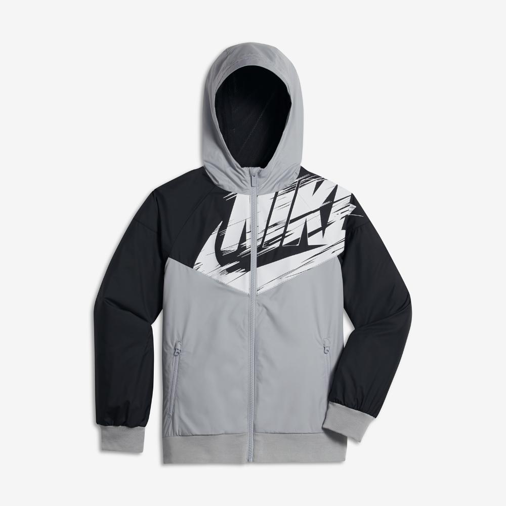 f14fca15f Nike Sportswear Windrunner Big Kids' (Boys') Jacket Size Medium (Grey)