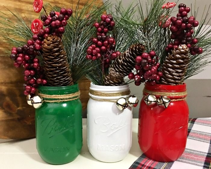 looking for christmas mason jar ideas look no further than this adorable mason jar christmas craft project for a christmas centerpiece