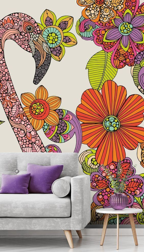 Flamingo Puzzle in 2020 Colorful wallpaper, Wallpaper