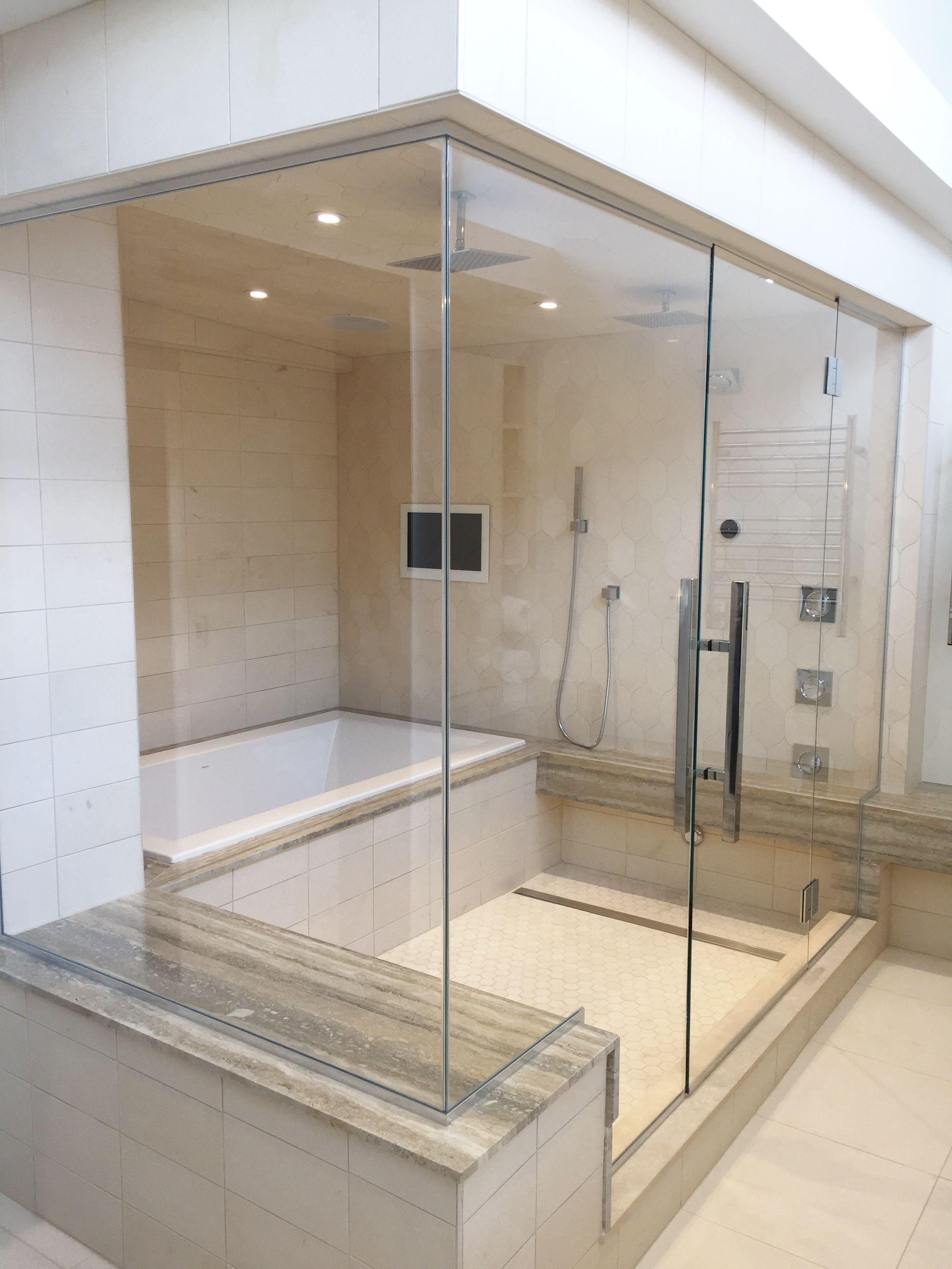 Frameless Shower Enclosure Panel Door Panel Return Panel