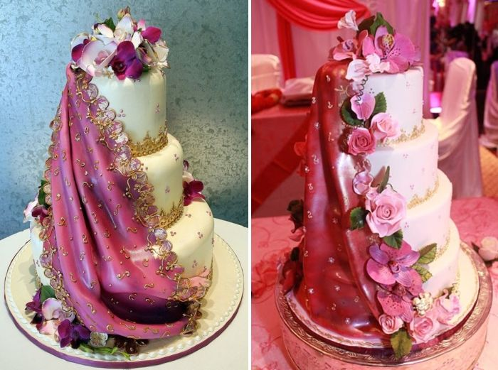 Cake For Mehndi Ceremony : Traditional wedding cakes with cascading flowers mexican