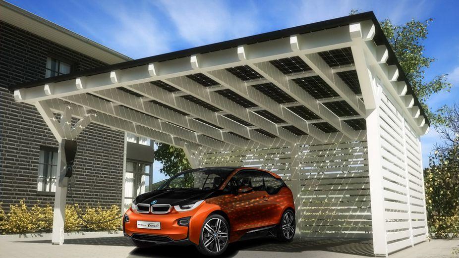 A BMW vai disponibilizar coberturas para que seja possível carregar o i3 em casa