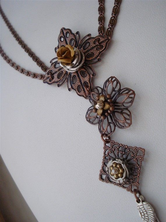 Fierce Mixed Metal Winged Charm OOAK Necklace by behressentials, $56.00