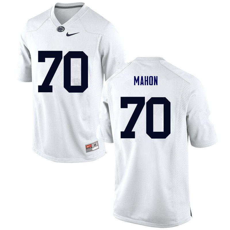 Men Penn State Nittany Lions  70 Brendan Mahon College Football Jerseys- White 0f35b21fc