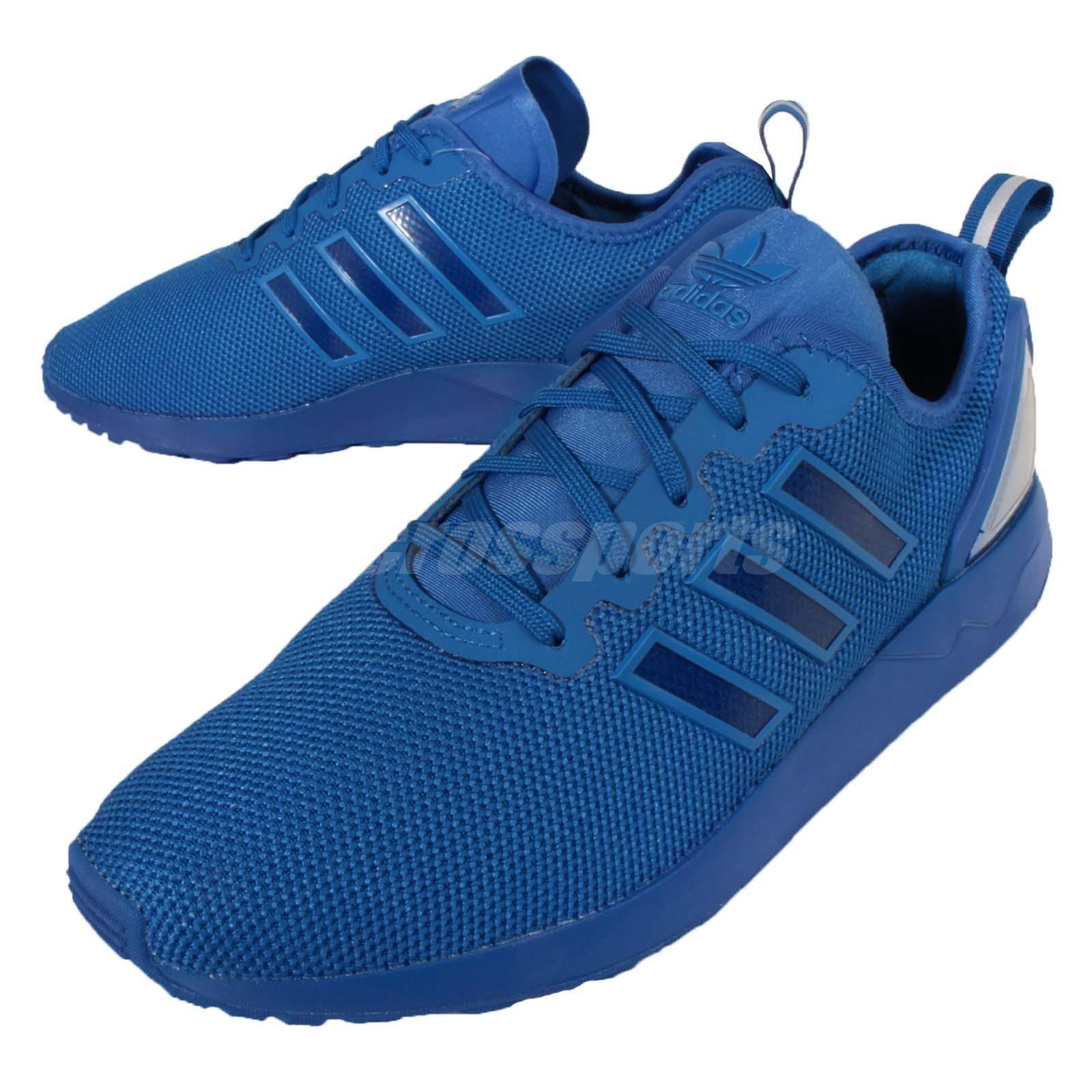 adidas originali zx flusso avanzata mens scarpe blu.