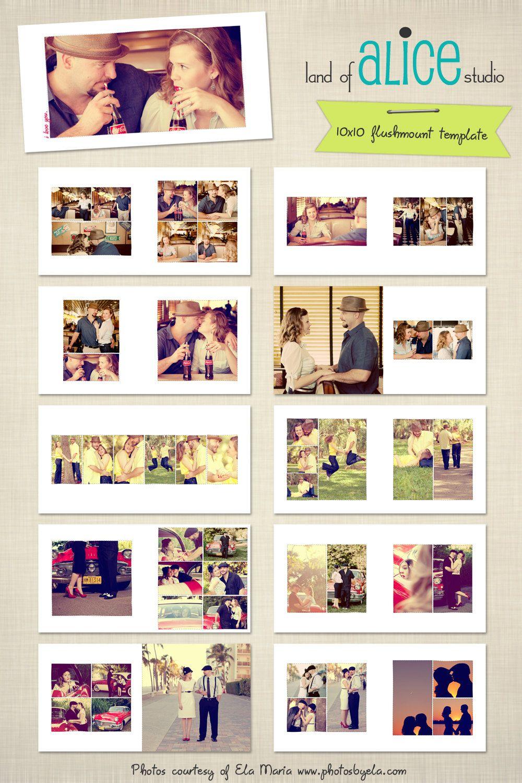 10x10 Photo Album Template - hand drawn frames - WHCC
