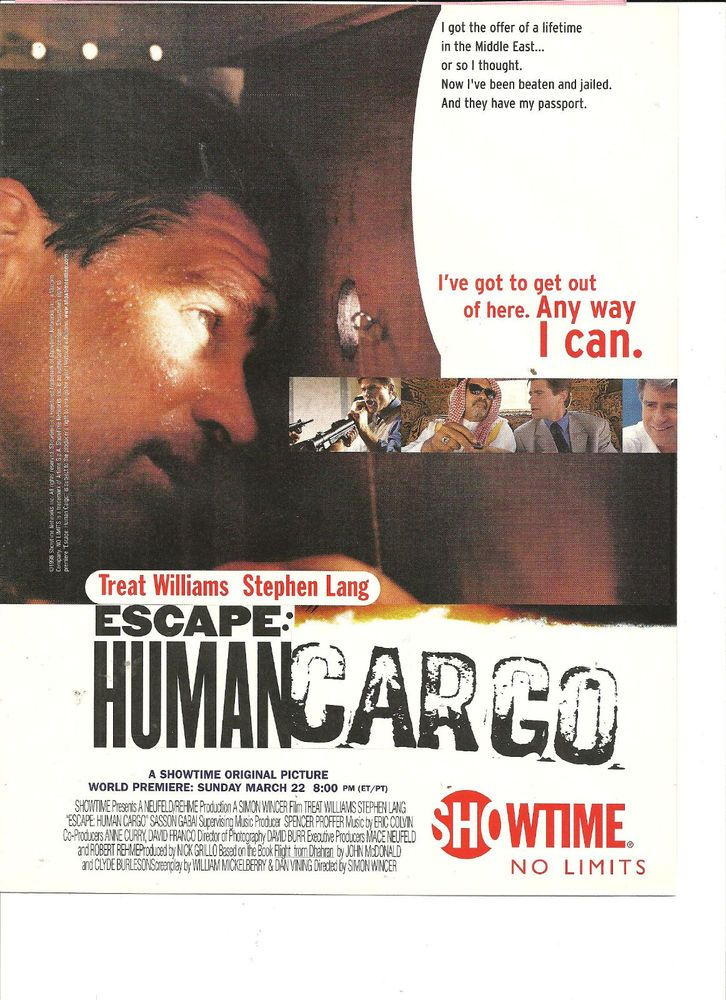 Treat Williams, Escape: Human Cargo, Full Page Promotional Ad