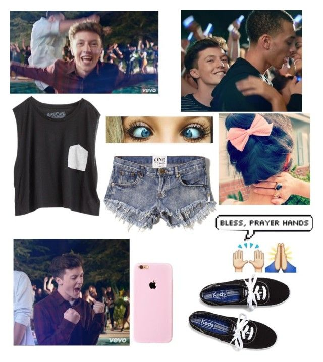 """""""Hanging out with Myles"""" by kaylarose8902 ❤ liked on Polyvore featuring Blondes Make Better T-Shirts, Keds and Abercrombie & Fitch"""