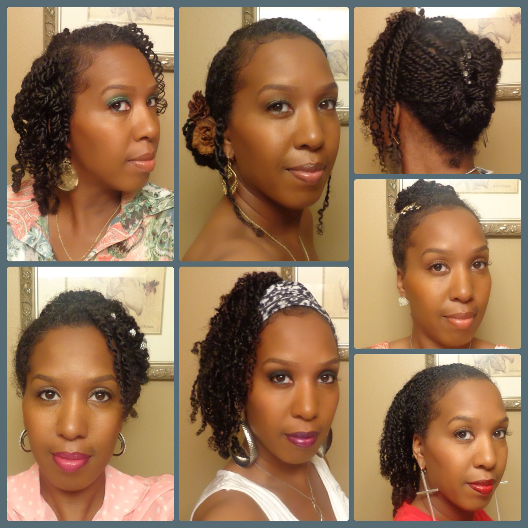 Natural Hair Collage 13 Styling Mini Twists Natural Hair Beauty Hair Styles Hair Beauty