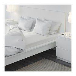 IKEA - DVALA, Hoeslaken, 140x200 cm, , Katoen voelt lekker zacht aan tegen de huid.Voor matrassen van max. 26 cm dik omdat het hoeslaken elastische randen heeft.