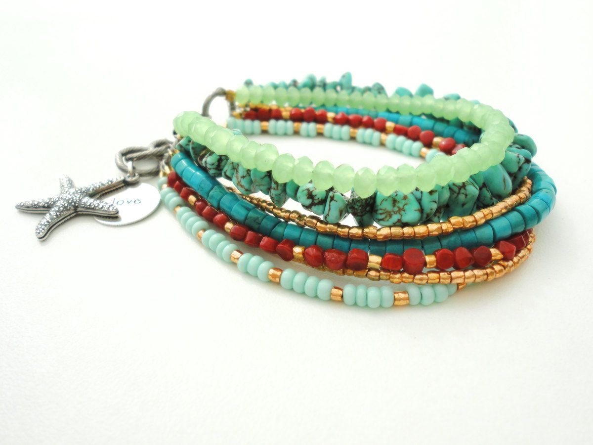 products beach bracelets othmar boho bracelet green gold