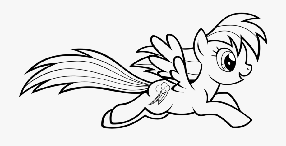 Download And Share 28 Collection Of Rainbow Dash Clipart Black And