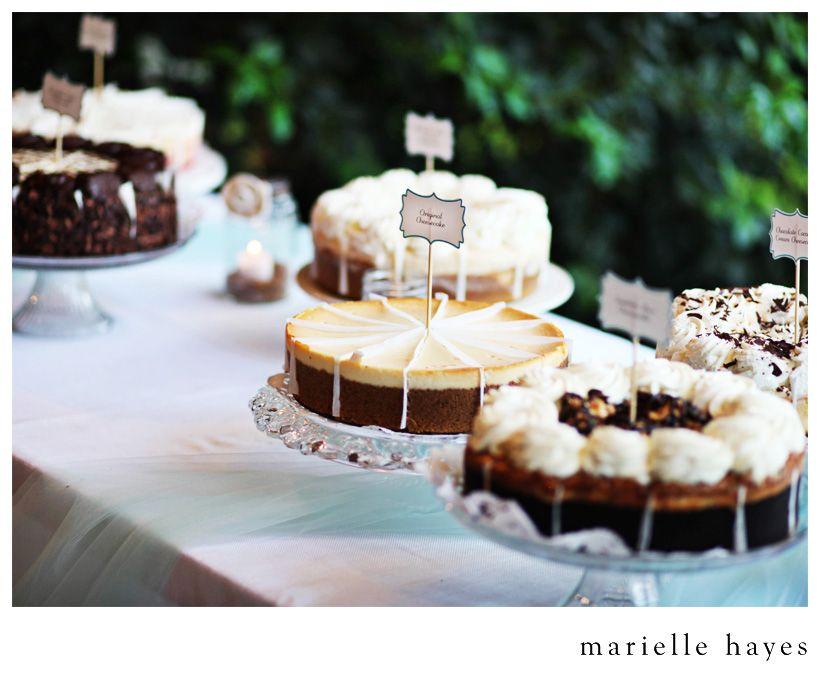 Stephanie Gerardo Dallas Texas Wedding Wedding Cheesecake