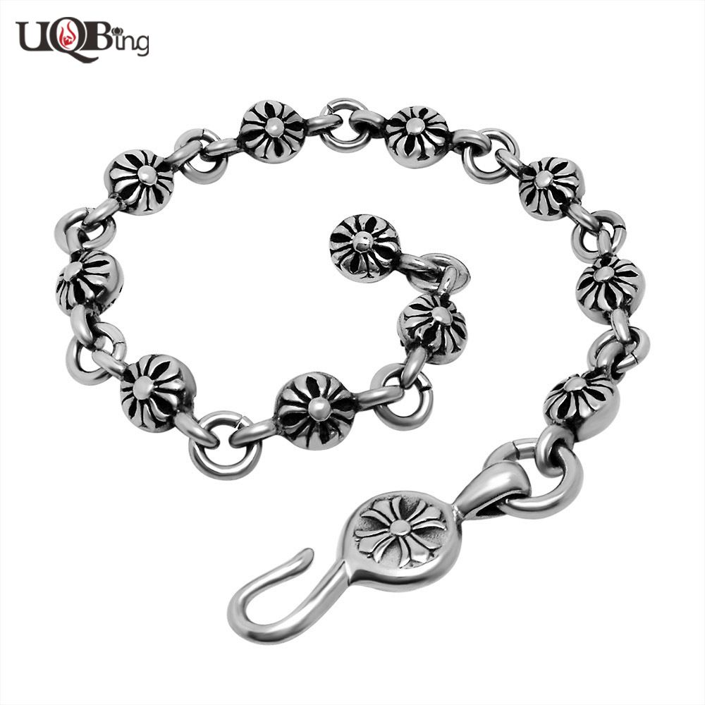 Click to buy ucuc hand made fashion stainless steel link chain vintage