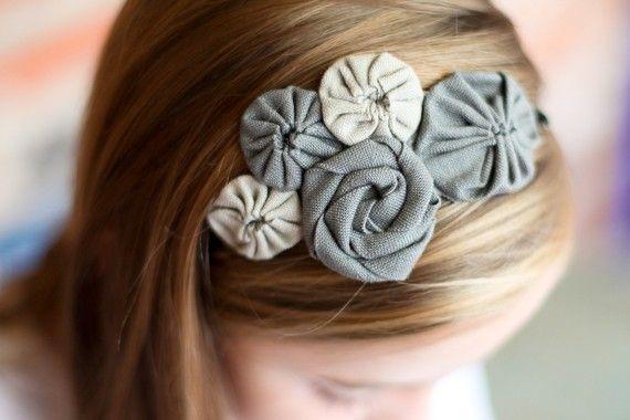 yo yo and rosette headband