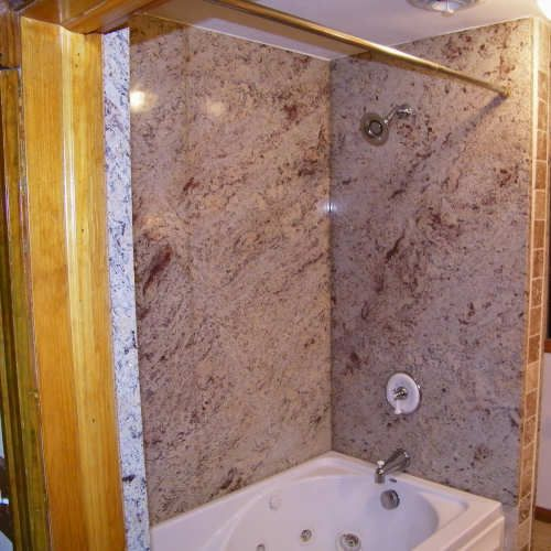 6 Fascinating Bathroom Done With Tub Surround Snapshot Idea