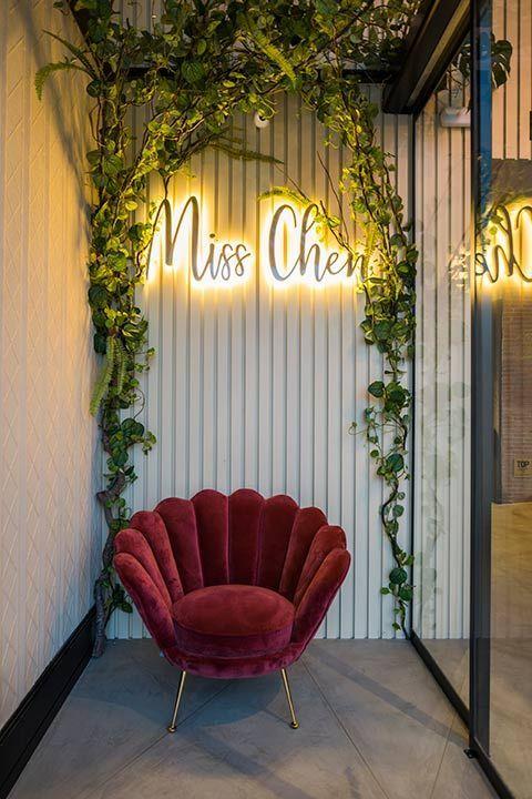 Restaurante Miss Chen. Azulejo 3D