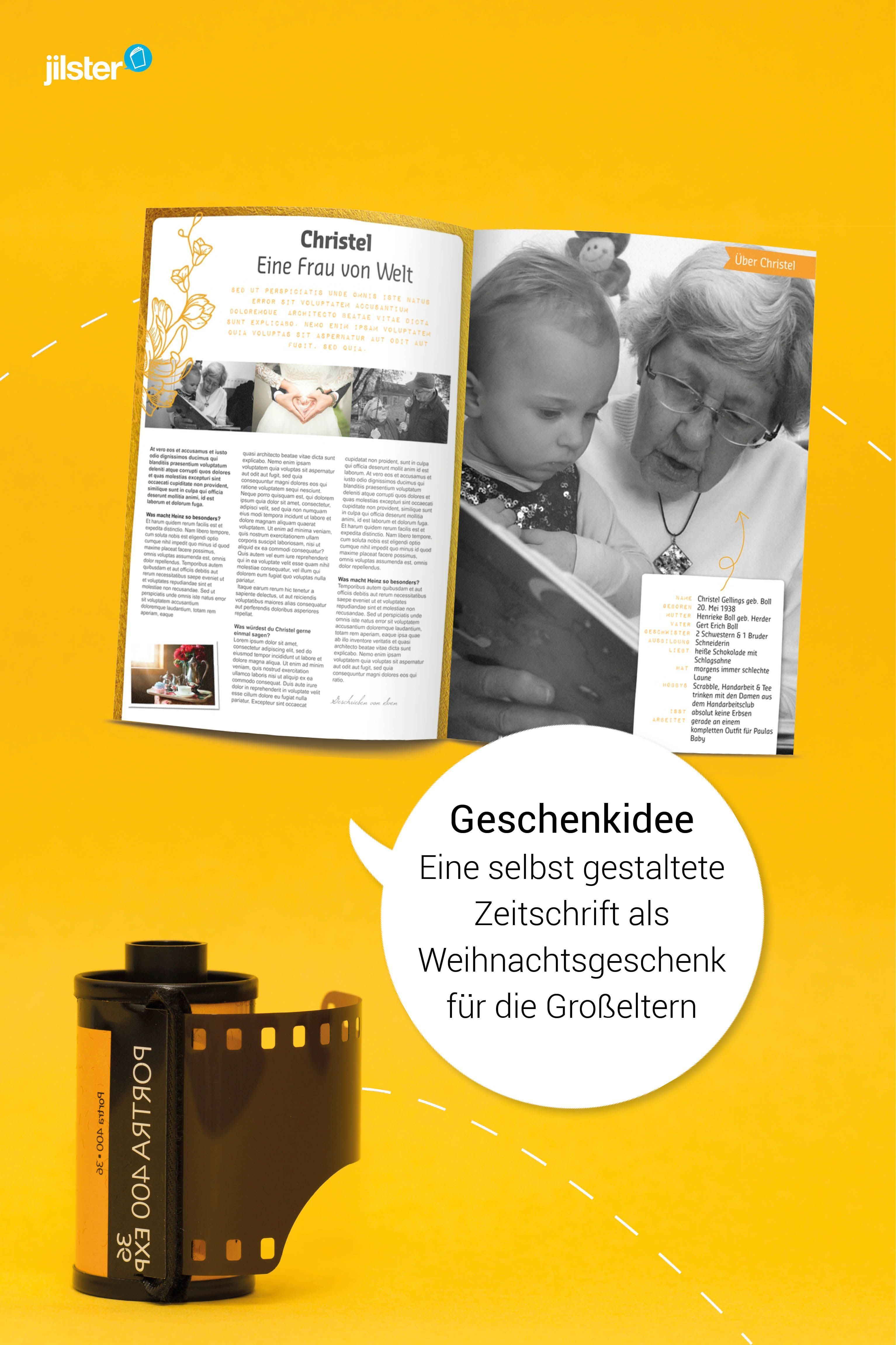 Weihnachtsgeschenk für Großeltern gestalten - Jilster Blog ...