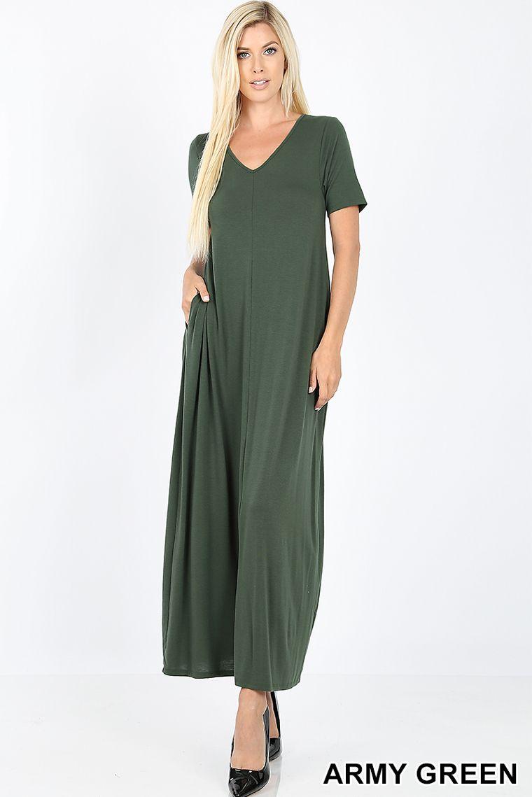Premium Maxi Dress Short Sleeve W Pockets Loose Relaxed T Shirt Style Ad Short Ad Sleeve Dress Short Sleeve Dresses Dresses Maxi Dress [ 1139 x 760 Pixel ]