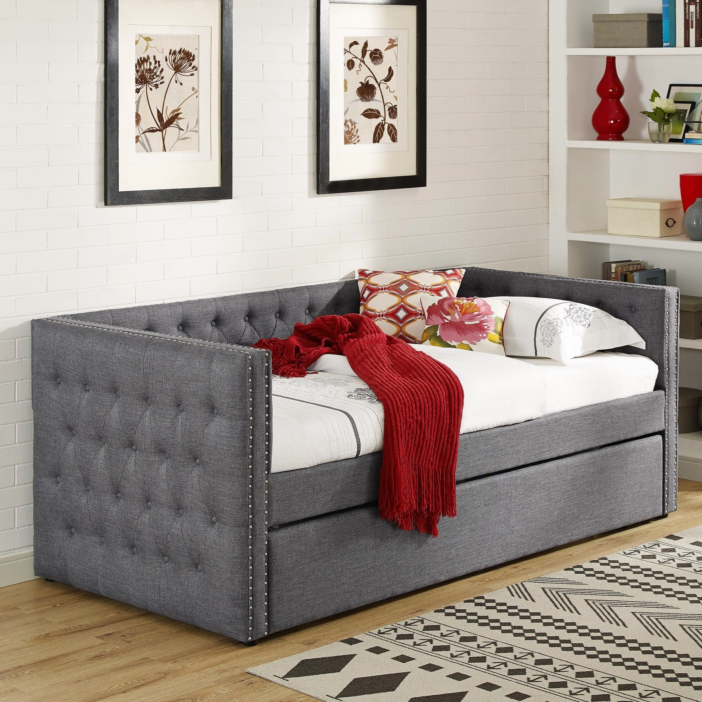 5335 Grey Daybed by Crown Mark at Miskelly Furniture