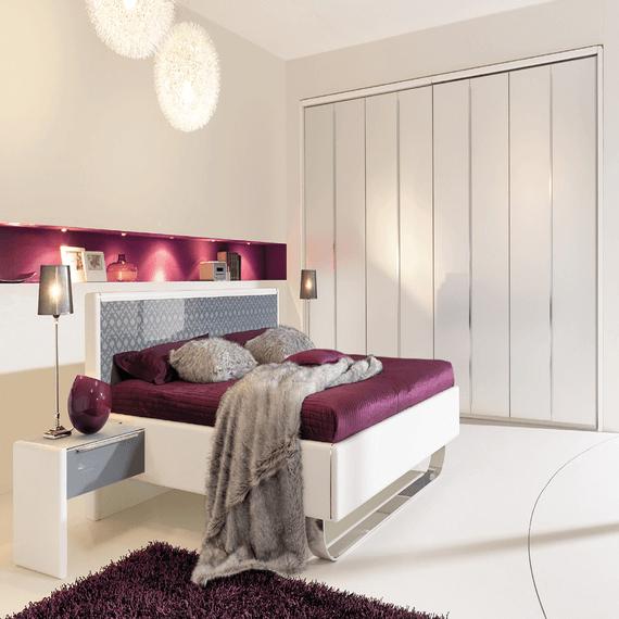 Schlafzimmer Farben: Schlafzimmer Design Farben Lila