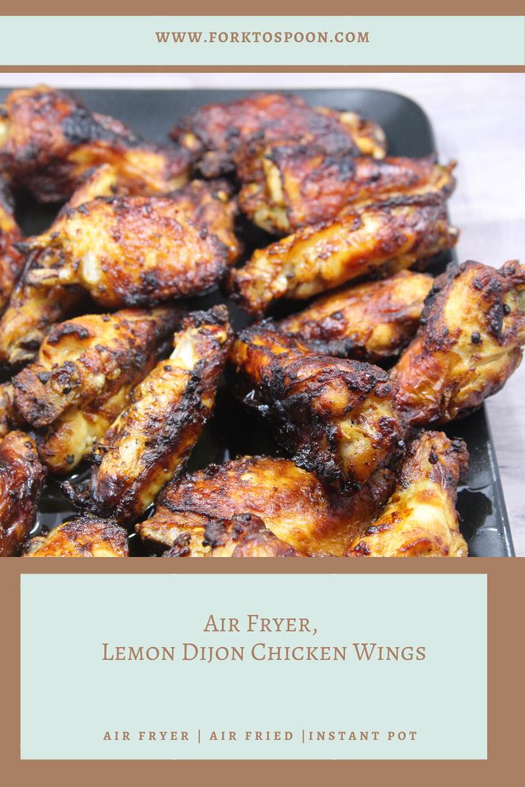 Air Fryer, Lemon Dijon Chicken Wings