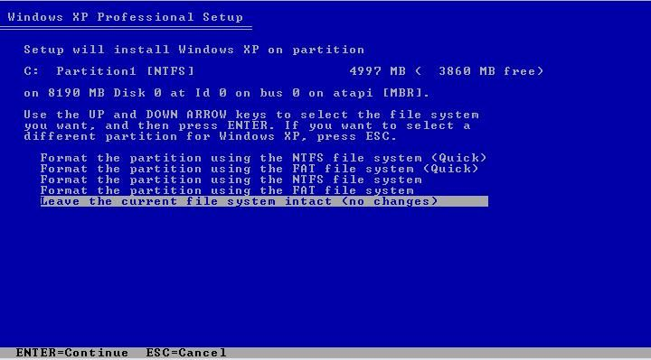 After Insert the Windows Xp CD  First Go To Your BIOS Setup