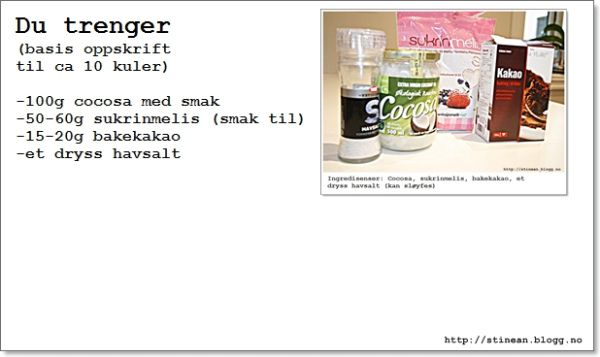 lmel  - eggehvite  - vaniljeesse
