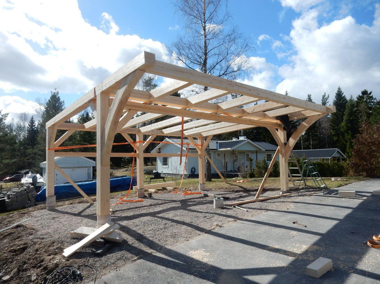 Carport April 2017 Timber frame, Pergola plans