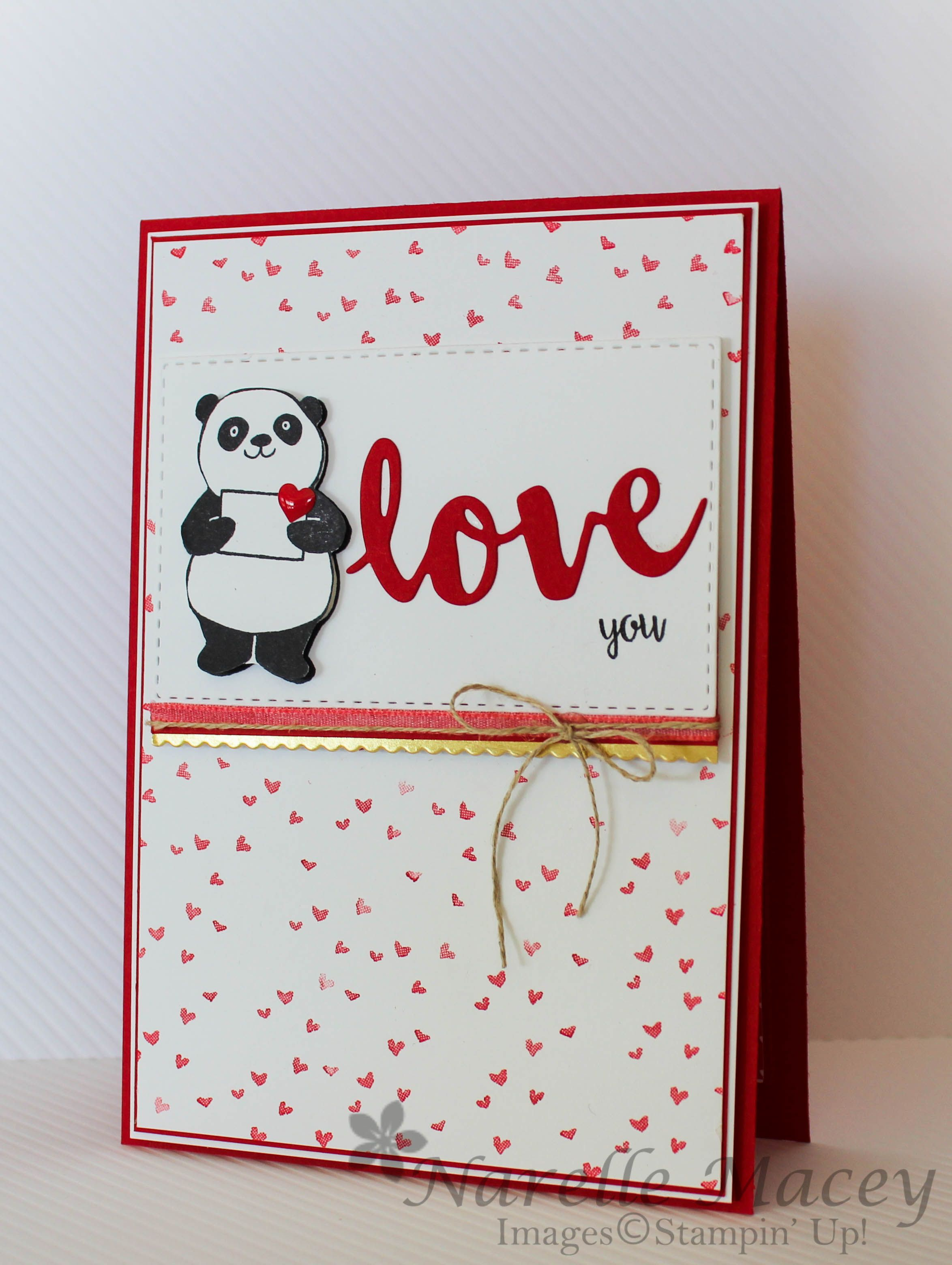 Love This Little Panda From The Panda Party Stamp Set From Stampin