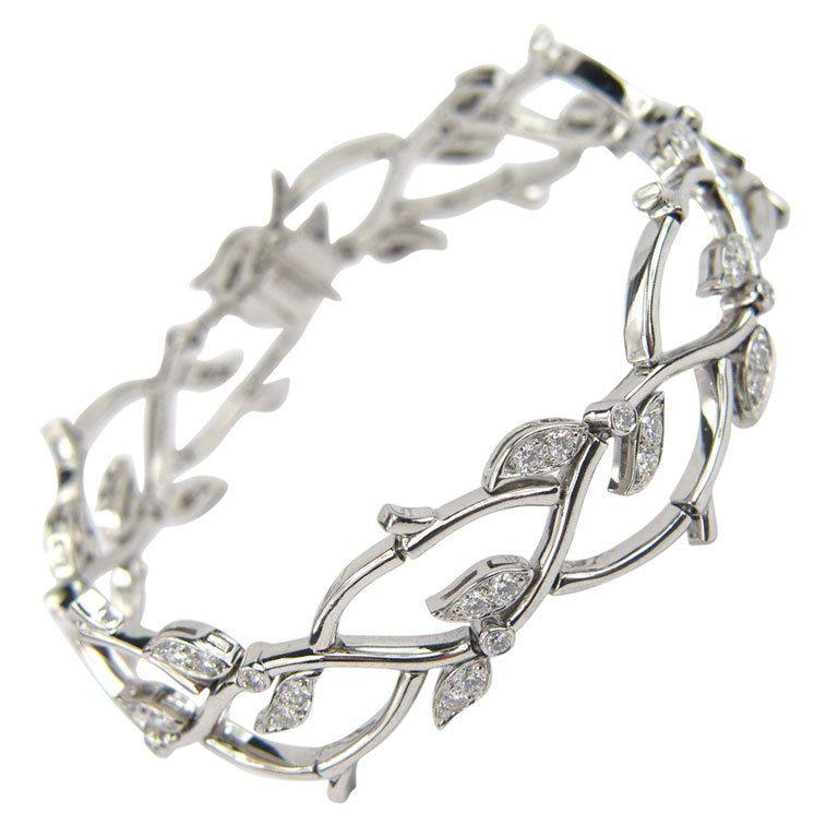TIFFANY & CO. Diamond Platinum Bracelet