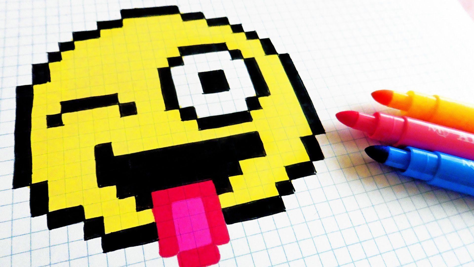 Handmade Pixel Art How To Draw Emoji Pixelart Dessin