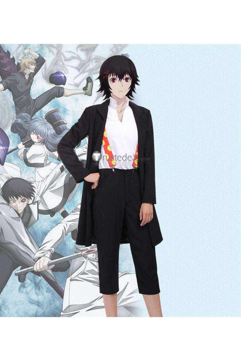 Tokyoghoulre Juuzou Suzuya Rei Black Suit Cosplay Costume Anime