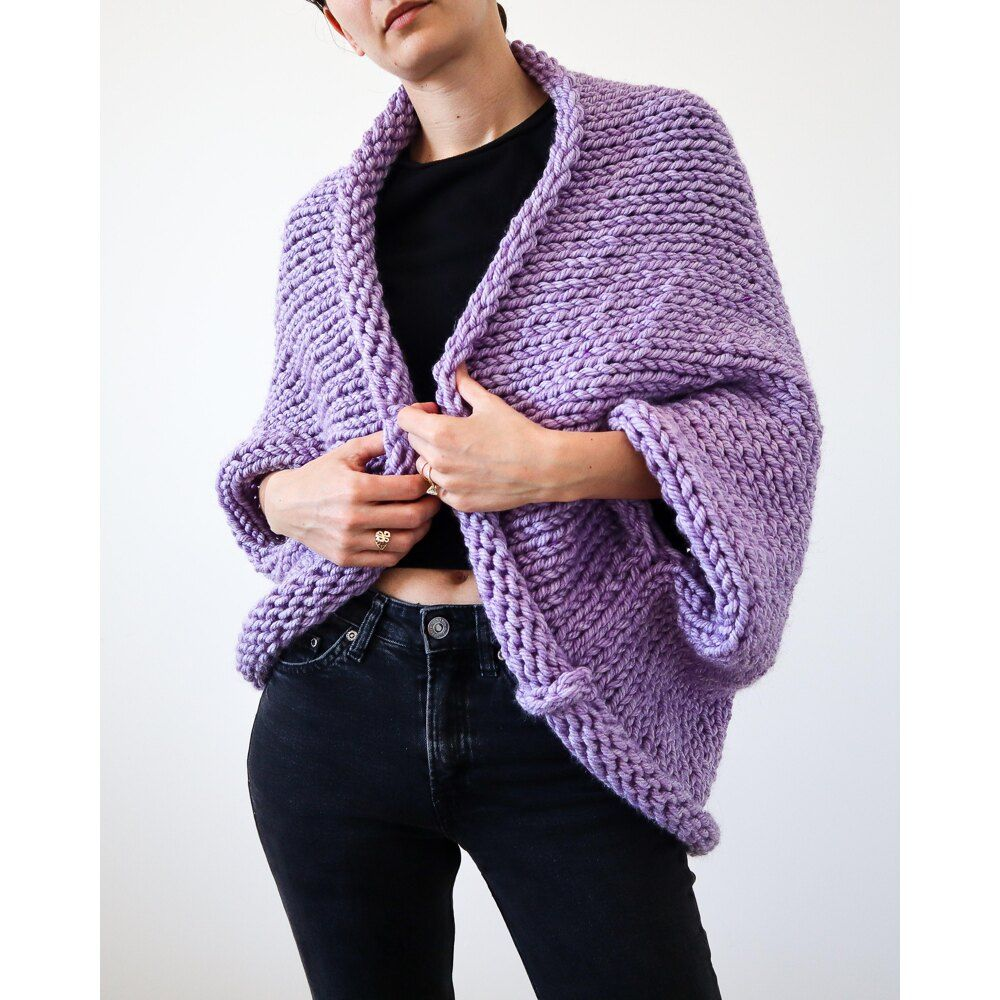 Super Chunky Slouchy Shrug Knitting pattern by Michelle ...