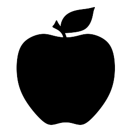 Food Silhouettes Apple silhouette, Apple images